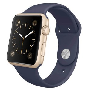 curea albastra apple watch din silicon