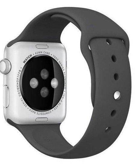 curea sport apple watch negru din silicon
