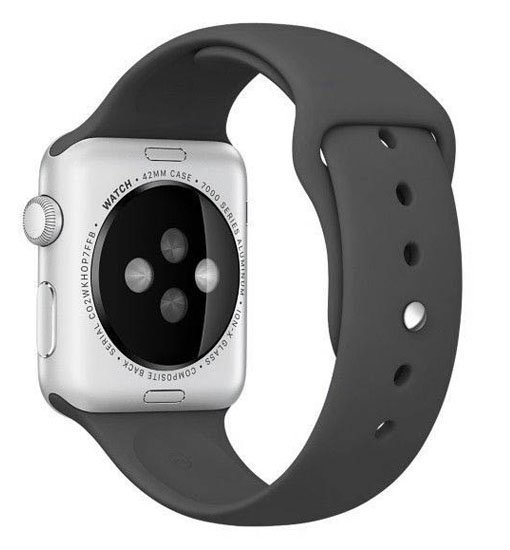 curea sport apple watch negru din silicon
