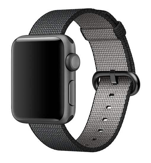 curea neagra apple watch 1 2 3 4 din material textil