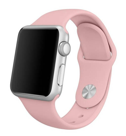 curea roz apple watch din silicon
