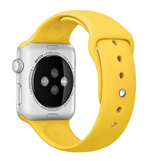 curea silicon galben apple watch