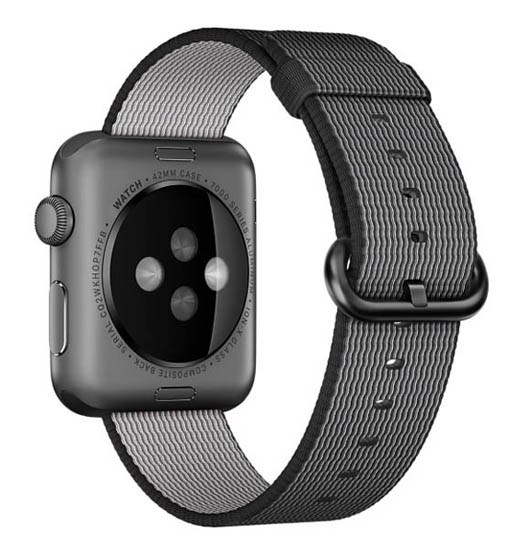 curea apple watch 1 2 3 4 textil negru