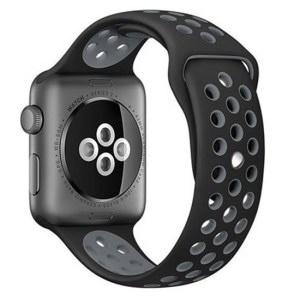 bratara din silicon negru si gri apple watch