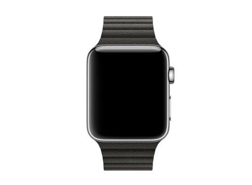 Curea piele neagra Apple Watch