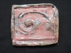 Pink raku Italian tile