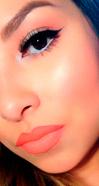 макияж с коралловой помадой