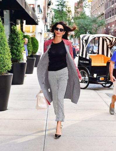 NEW YORK, NY - SEPTEMBER 17: (EXCLUSIVE COVERAGE) Amal Clooney seen on the streets of Manhattan on September 17, 2016 in New York City. (Photo by James Devaney/GC Images)