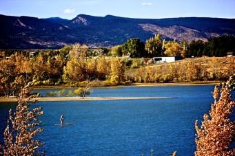 Paddle-boarder at Boulder Reservoir