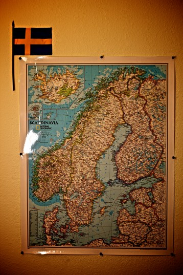 Sweden Map in my room, roots!