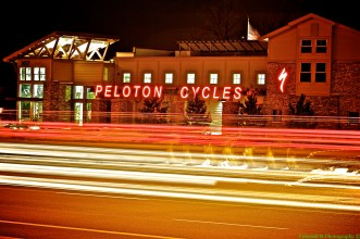 Slow Shutter of my new Work - Peloton Cycles!