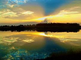 """Sunrise Over McDowell Dam - Bismarck, ND"""