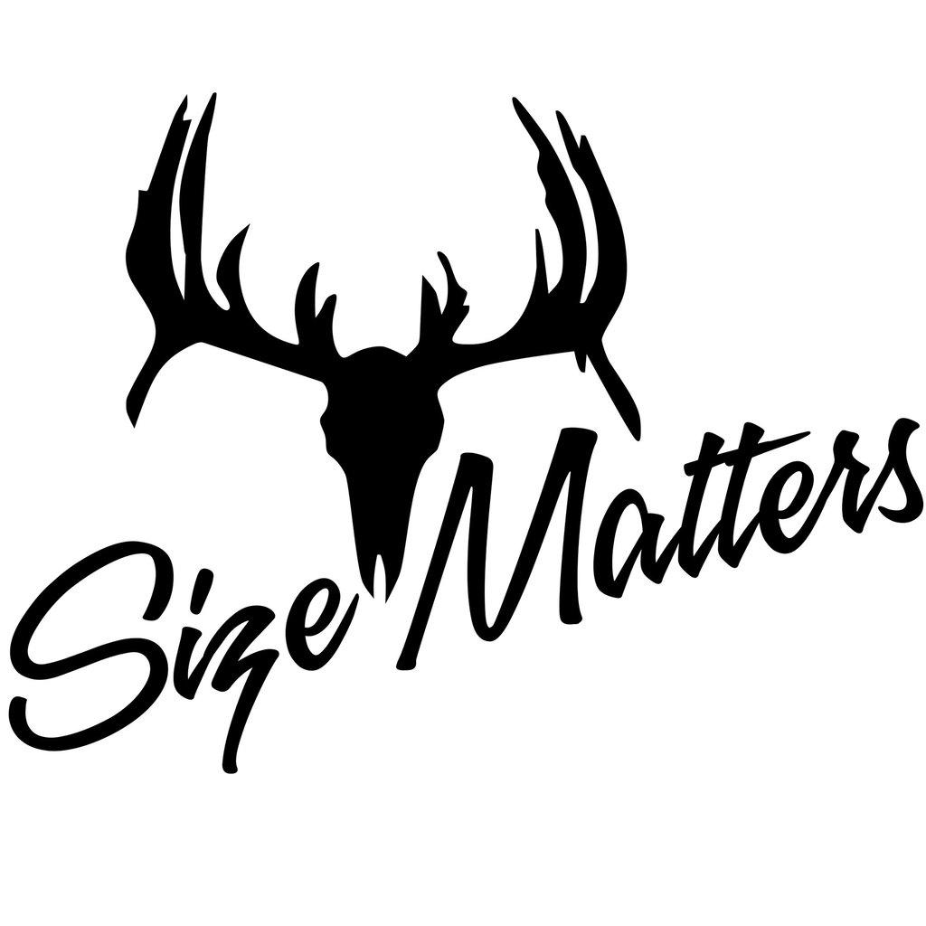 Size Matters Deer Skull Redneck Sticker