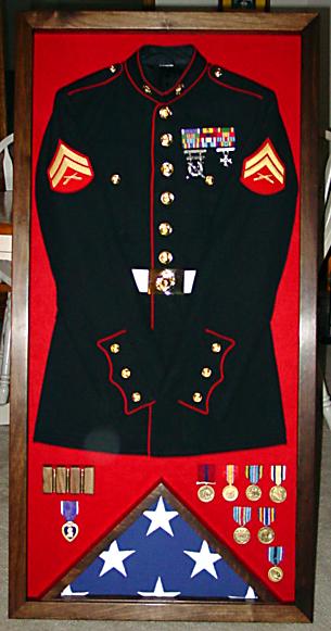 Uniform Shadow Box Walnut Redneck Woodworks