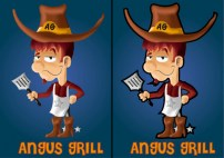 Mascot for a grill bar