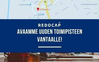 Redocap Oy laajenee – avaamme uuden toimipaikan Vantaalle