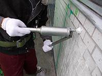 注入口付アンカーピンニングエポキシ樹脂タイル固定工法 エポキシ樹脂注入