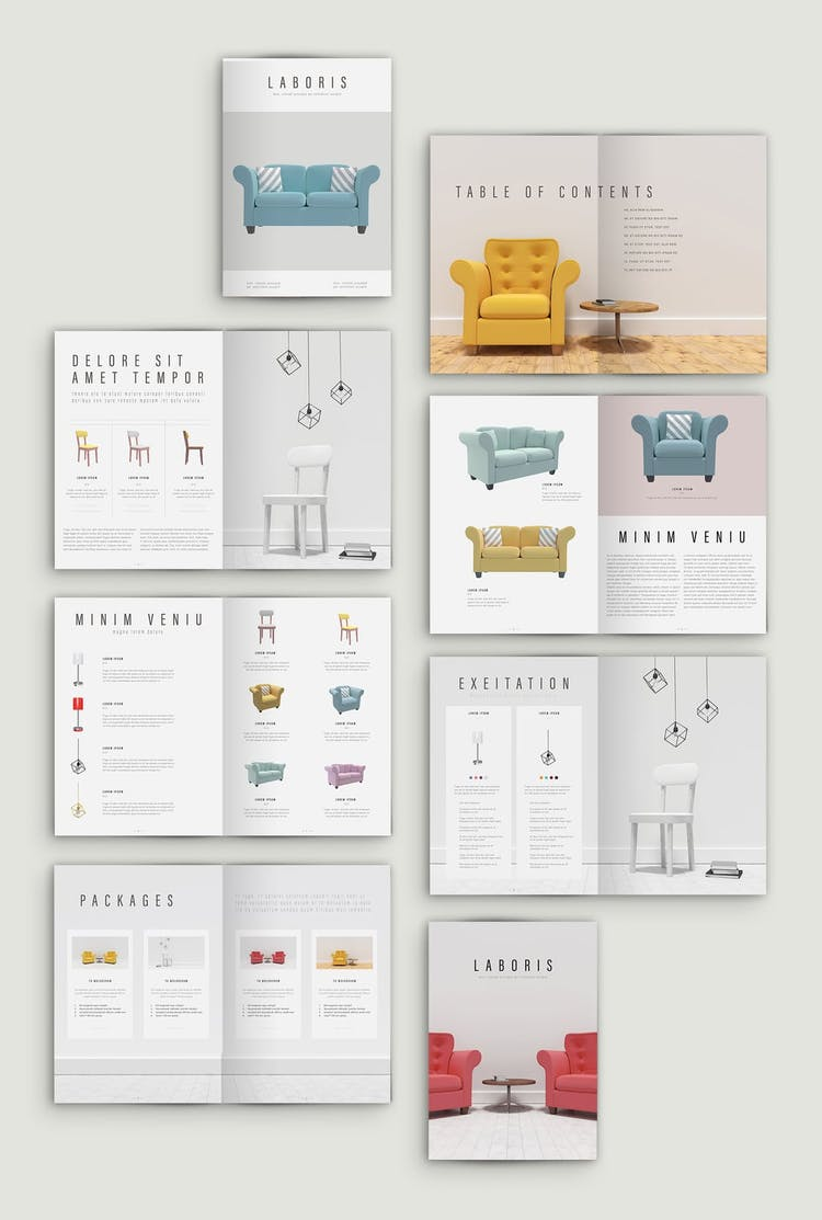 Create attractive, informative brochures and pamphlets for business, school, or personal use with free brochure templates available for download. 50 Fresh Indesign Catalog Templates Redokun