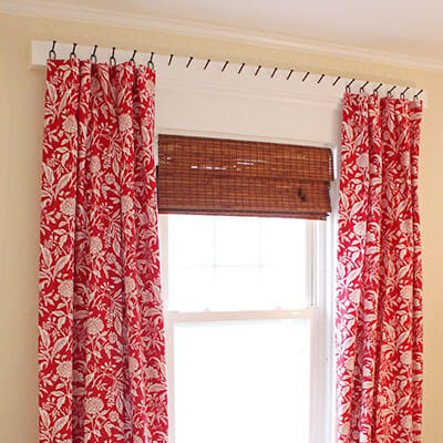 hang curtains without drilling or nails