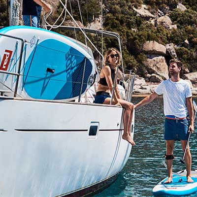 Image of Red Paddle Co Ride board on yatch