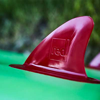 Image of fins with Red Paddle Co logo