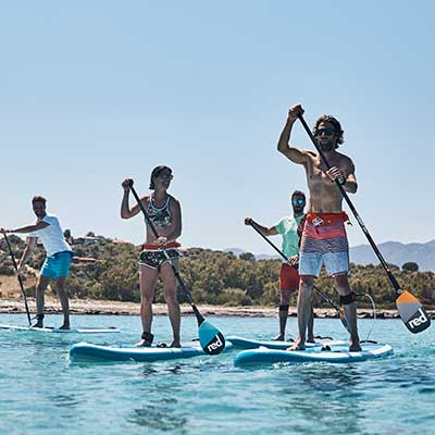 Image showing people paddling on Red Paddle boards