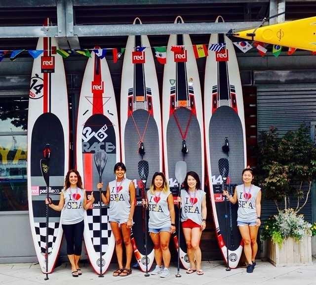 red ladies paddle team