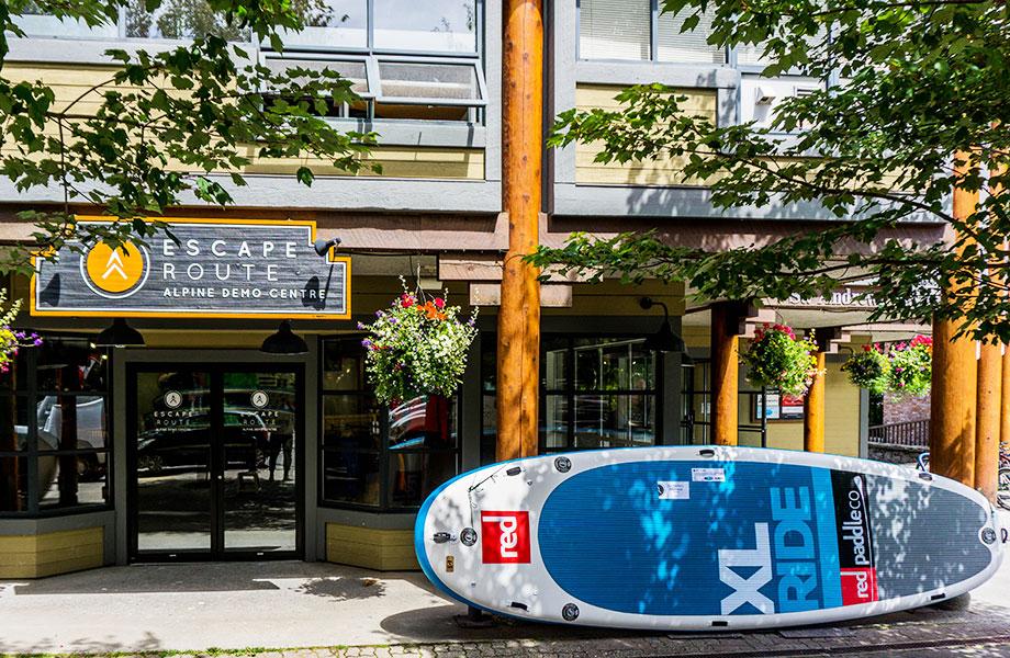 Escape Route demo centre with XL Paddle board