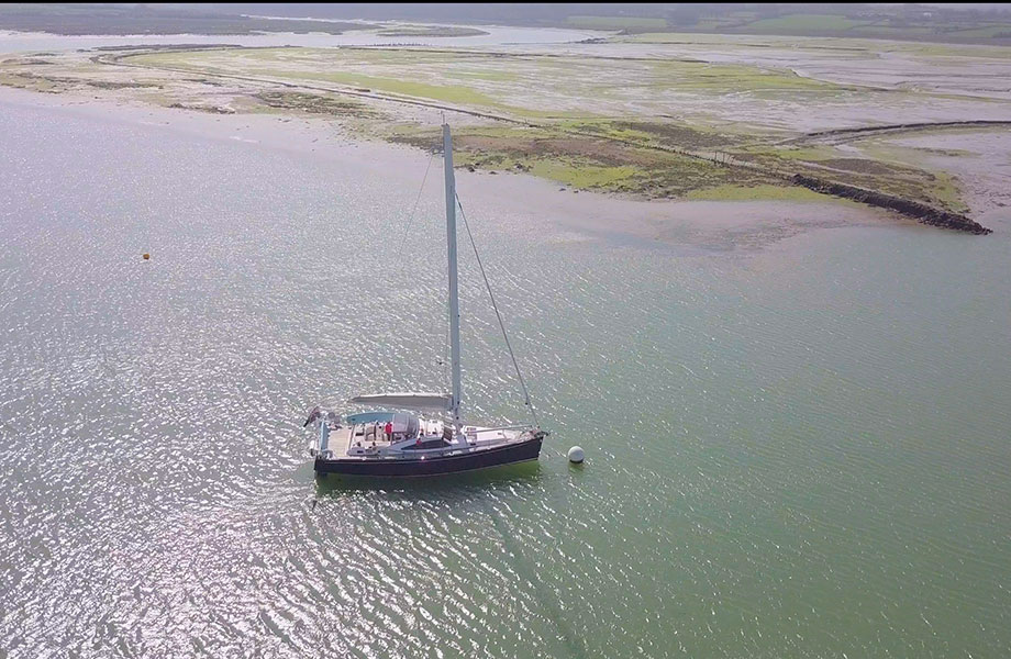 Given Time Yacht taken from Drone