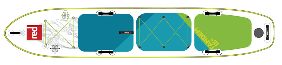 Top design of Red Paddle Co Tandem Board