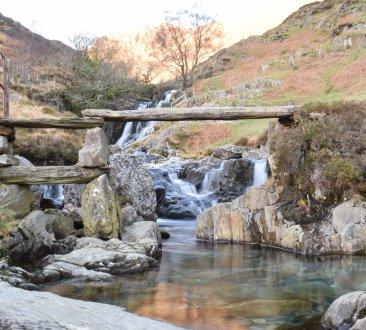 Afon Cwm Llan waterfalls