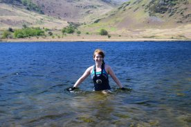 Swimming in Crummock Water