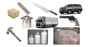 Ban: Boxes, Box Cutters, Pressure Cookers, Knives, Cars, Trucks, Fertilizer, Propane, Hammers, and Guns