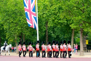 The Queen's Guards Marching
