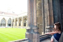 Mia enjoying the view at Westminster Abbey.