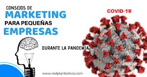 Consejos de marketing para pequeñas empresas durante la pandemia de COVID-19 Redplan Bolivia Agencia de Marqueting Digital