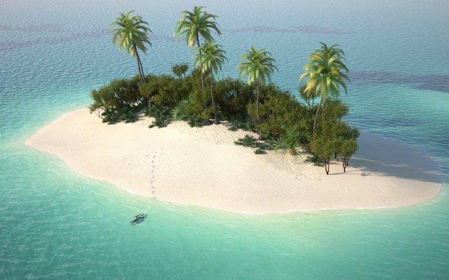 bigstock-Aerial-View-Of-Caribbean-Deser-5316453
