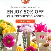 Enjoy 50% Off Craftsy Freshest Classess