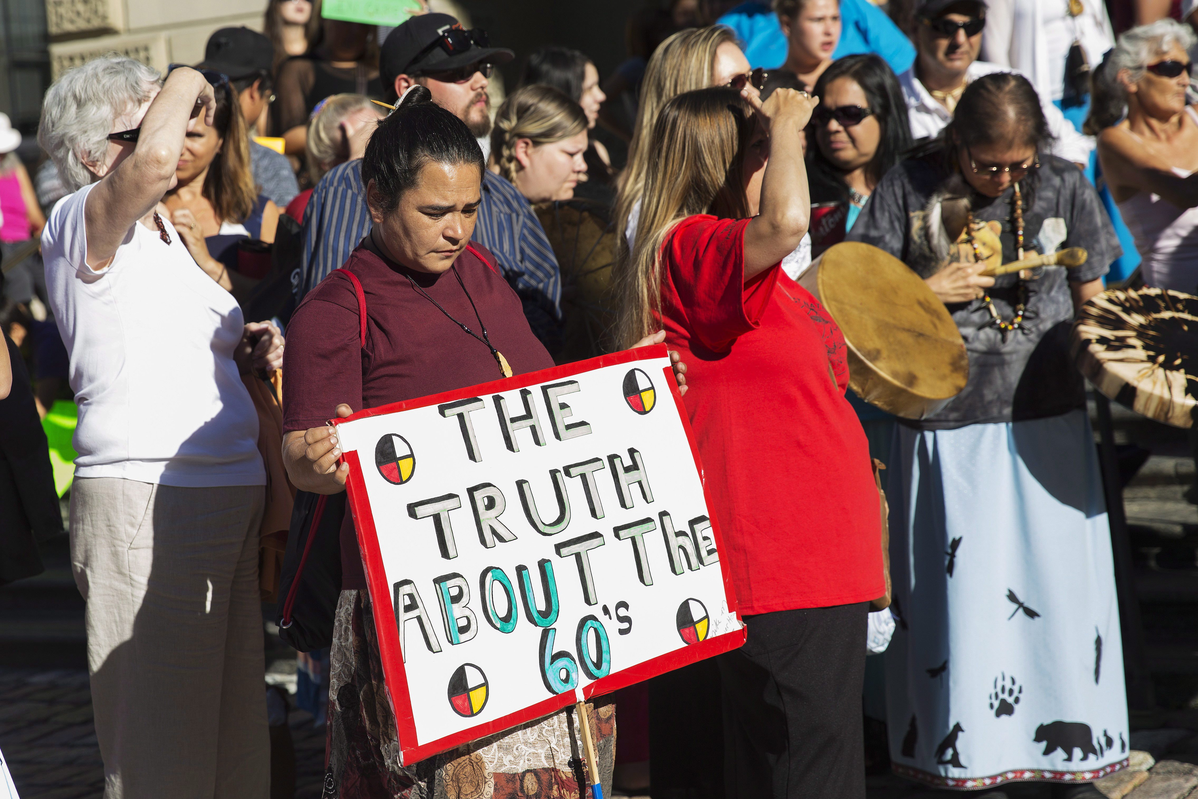 Aboriginals Rally At '60s Scoop Courthouse As Class Action Hearing Begins