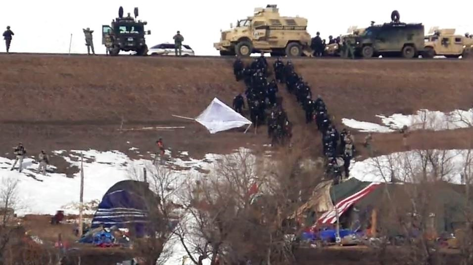 Dakota Access Pipeline Protest Camp Holdouts Arrested
