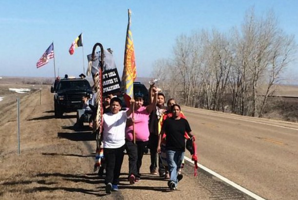 Dozens Rally Against Keystone XL Pipeline on Fort Peck Reservation