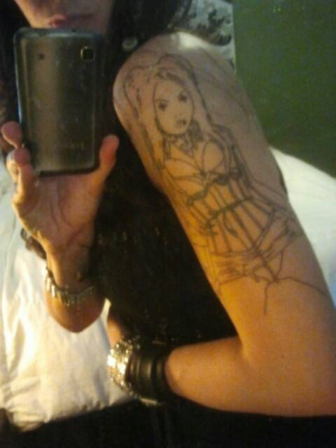 Fan art tattoo of Elena