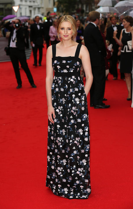Laura Carmichael chose an embellished floral gown from British brand Erdem.