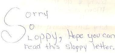 Sorry SoSloppy