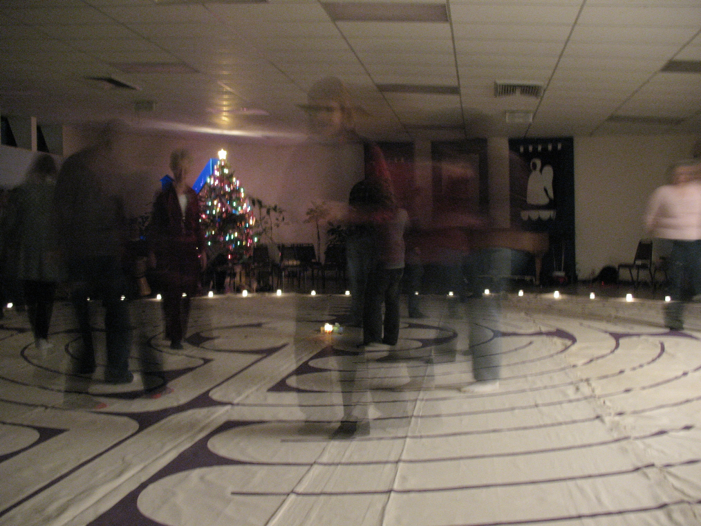 Spirit walkers. Moving slowly leaves an energy impression on the path. December 2008 © photo 2008-2009 by Lesley Goddin. All rights reserved.