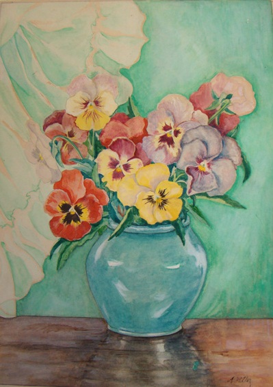 Large Colored Pansies (1907-1912)