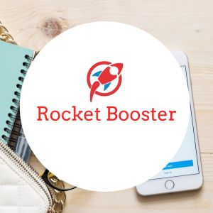 rocket booster product logo