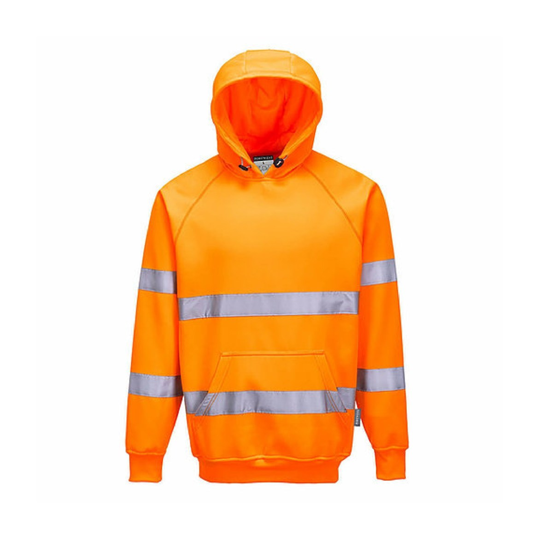 Redrok Workwear Centre - Plymouth - Hi-Vis Hooded Sweatshirt - Orange