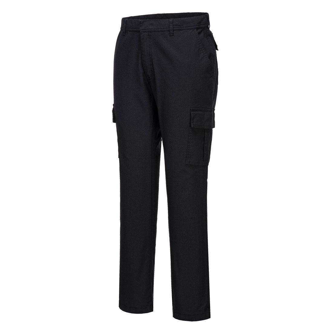 Portwest Stretch Slim Combat Trouser - Black