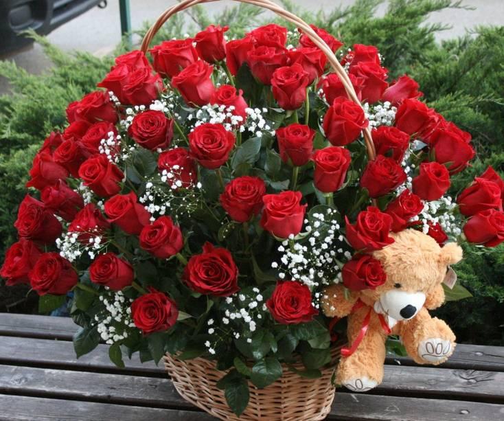 Korpa 101 ruža 21